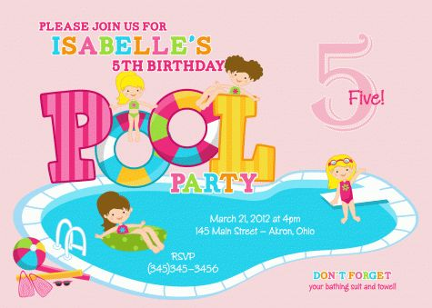 15 best 1st Birthday swim theme !!! images on Pinterest Birthday - birthday invitation swimming party