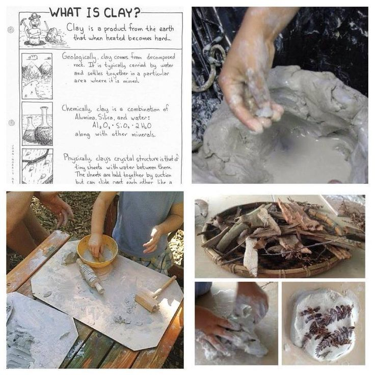 Exploring clay. What is Clay? what does it feel like? What can you do with it? Adding found materials. - Awe & Wonder ≈≈ http://www.pinterest.com/kinderooacademy/clay/
