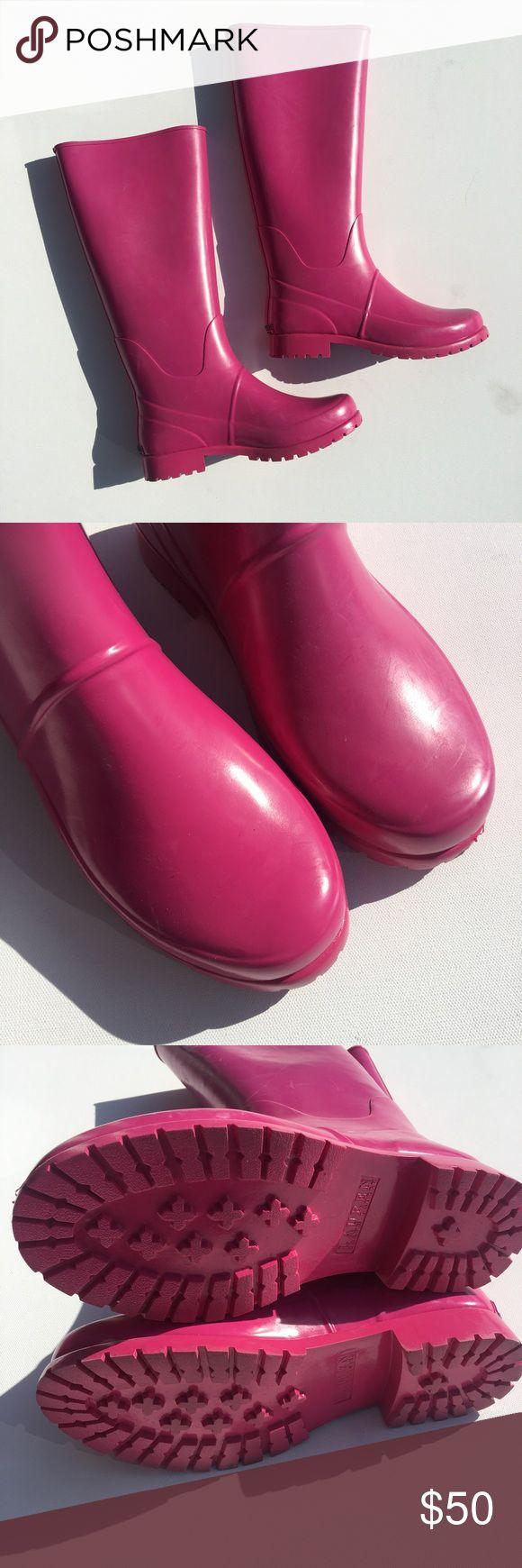 New Ralph Lauren Bethania Rain Boots Pink Rubber Brand New Ralph Lauren Pink Rain Boots, may have slight blemishes from storage. C83 Ralph Lauren Shoes Winter & Rain Boots