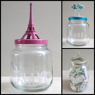 Honeymoon fund savings jar craft ideas tips and for Savings jar ideas