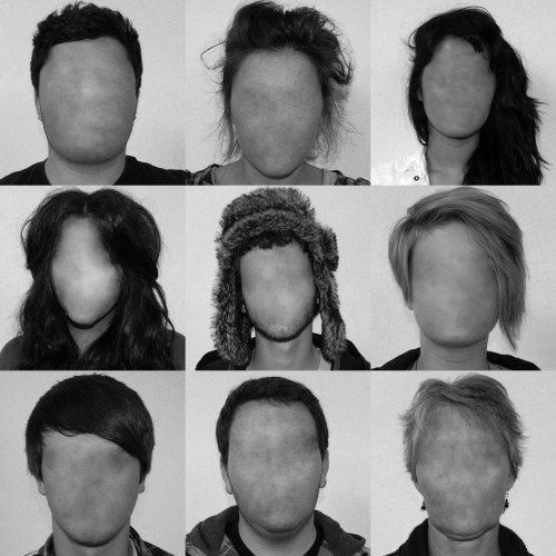Faceless portraits