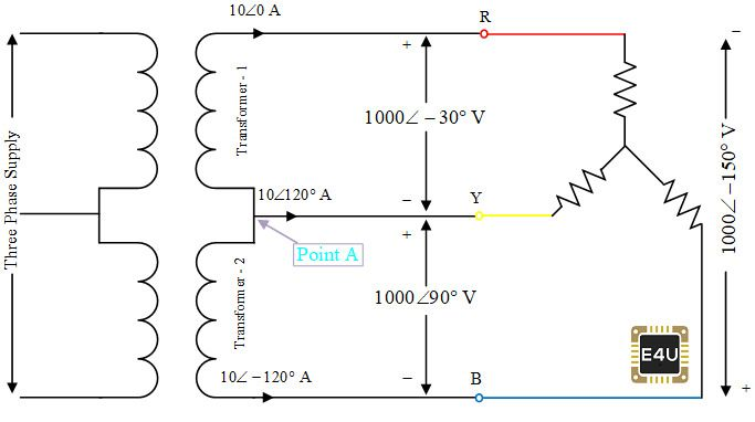 An Open Delta Connection Transformer Uses Two Single Phase Transformers To Provide A Three Phase Su In 2020 Electronics Rules Delta Connection Single Phase Transformer