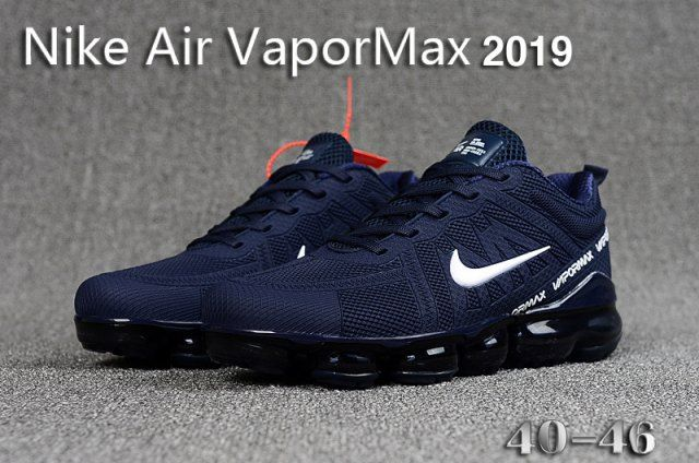 Mens Winter Nike Air VaporMax 2019 Sneakers Navy blue white ...