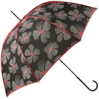 Totes Ladies Elegant Walker Dotty Flowers Umbrella