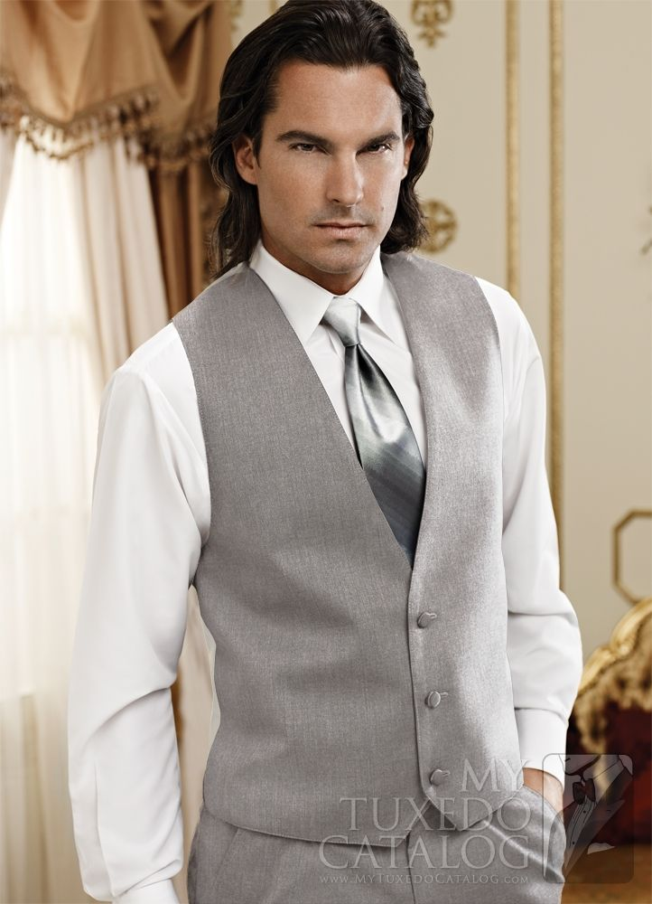 Heather Grey 'Twilight' Suit Vest from http://www.mytuxedocatalog.com/catalog/vests/VM988-Heather-Grey-Twilight-Suit-Vest/