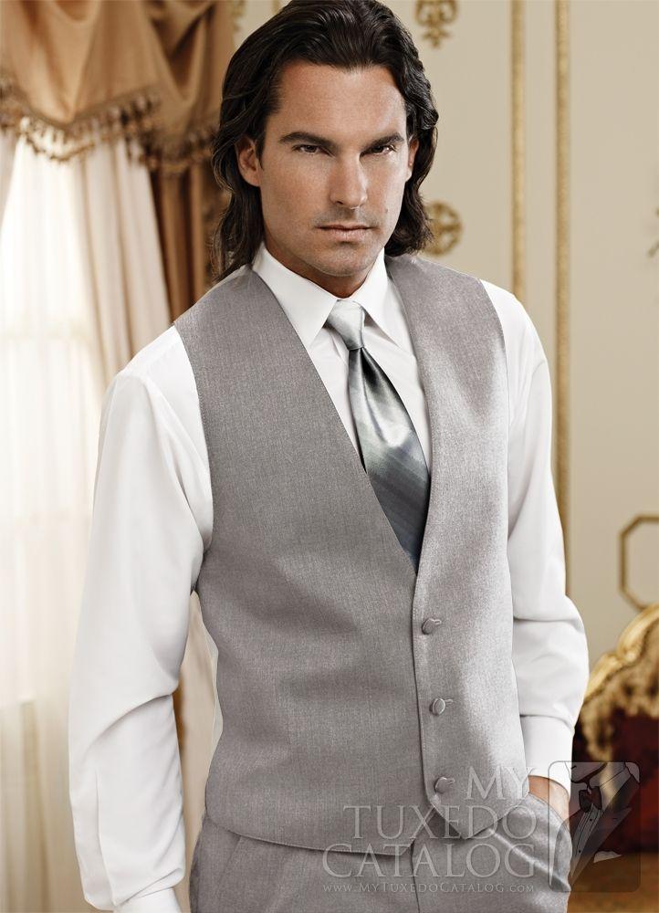 Heather Grey 'Twilight' Suit Vest from http://www.mytuxedocatalog.com/catalog/vests/VM988-Heather-Grey-Twilight-Suit-Vest/