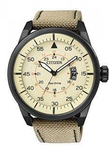 Citizen-AW1365-19P-Reloj-de-cuarzo-para-hombre-con-correa-de-cuero-color-beige-0