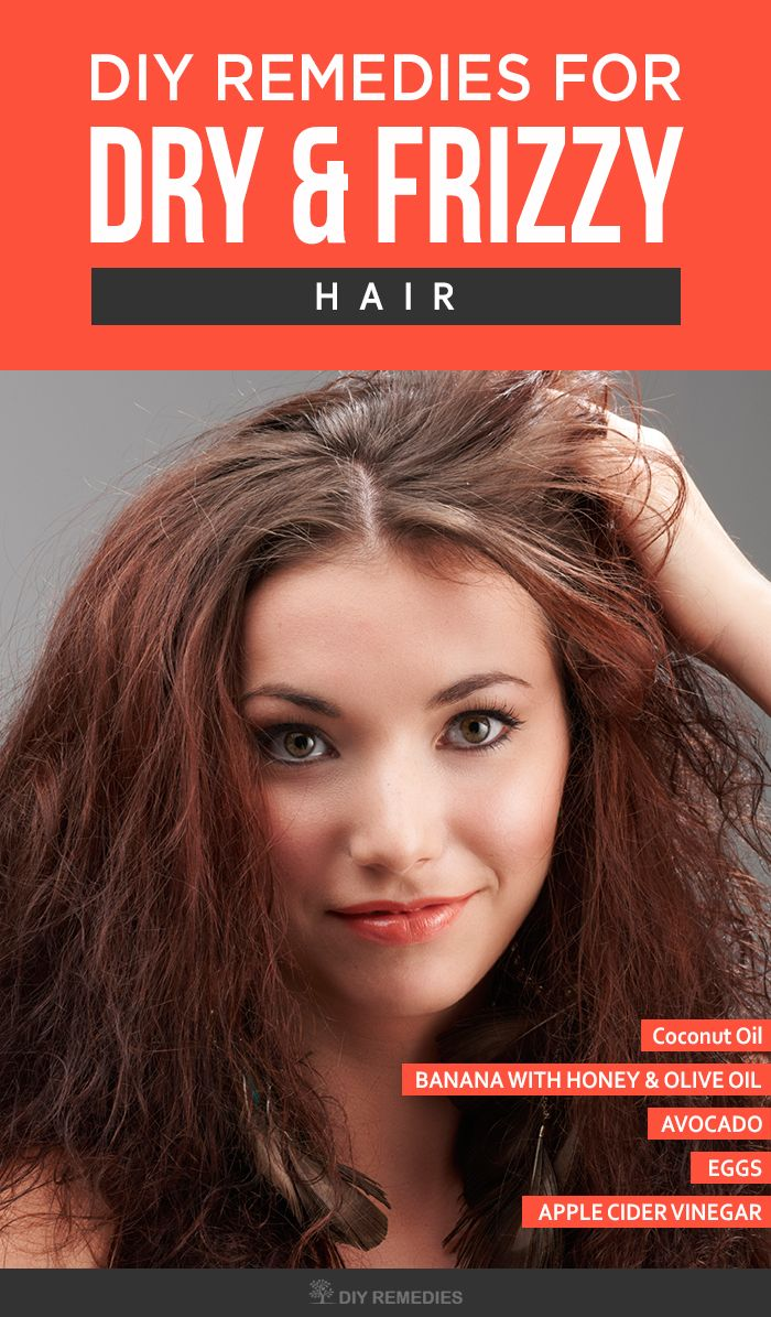 Top DIY Remedies for Dry and Frizzy Hair    Here are the best and effective home remedies for frizzy hair. Follow them regularly without any interruption to get smooth, shiny and luminous hair. Home Remedies for Dry and Frizzy Hair: