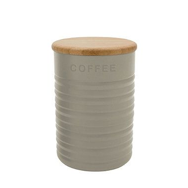 Finally! Found the perfect tea, coffee and sugar jars and they had to be one the most expensive ;) Typhoon® Ripple Coffee Canister – Stone - From Lakeland