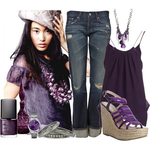 annie hammer amethyst necklace, Purple Frenzy., created by ldtrollinger on Polyvore