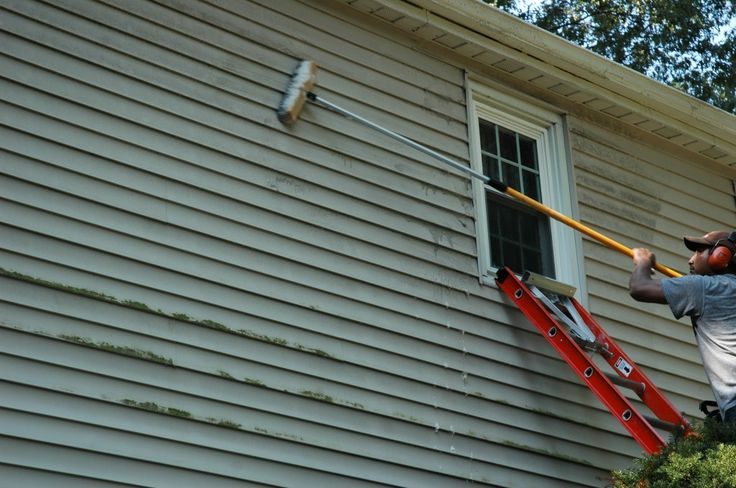 Follow these steps to clean vinyl siding without any specialized equipment other than a ladder and a brush.