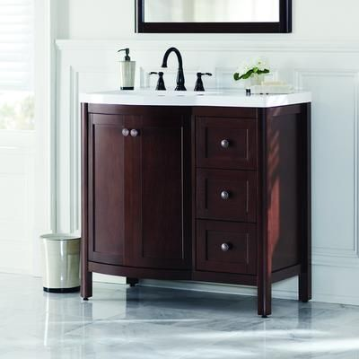 Home Decorators Collection Madeline 36 Inch Vanity Combo In Chestnut Md36p2c Cn Home Depot