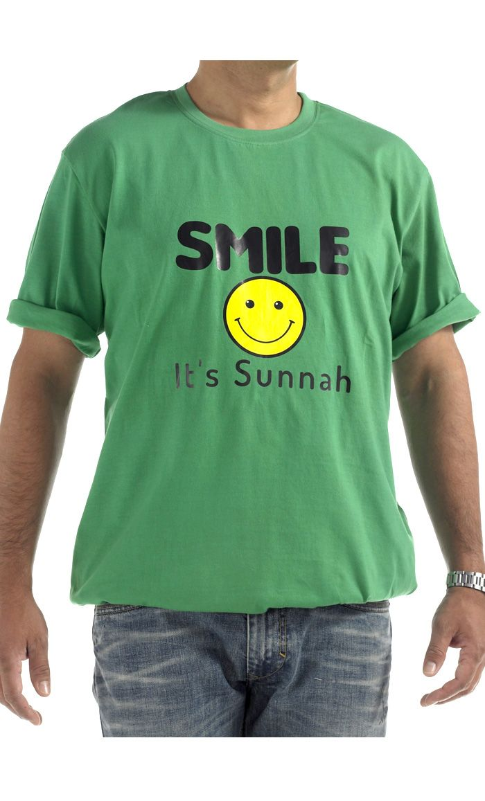 Smile.  100% cool comfortable cotton t-shirt.
