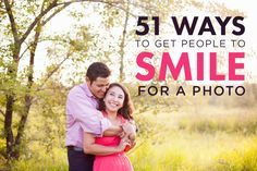 How do you get someone to smile for a photo without saying cheese? Get 51 tricks to bring out real, genuine smiles in your subjects and create great images!