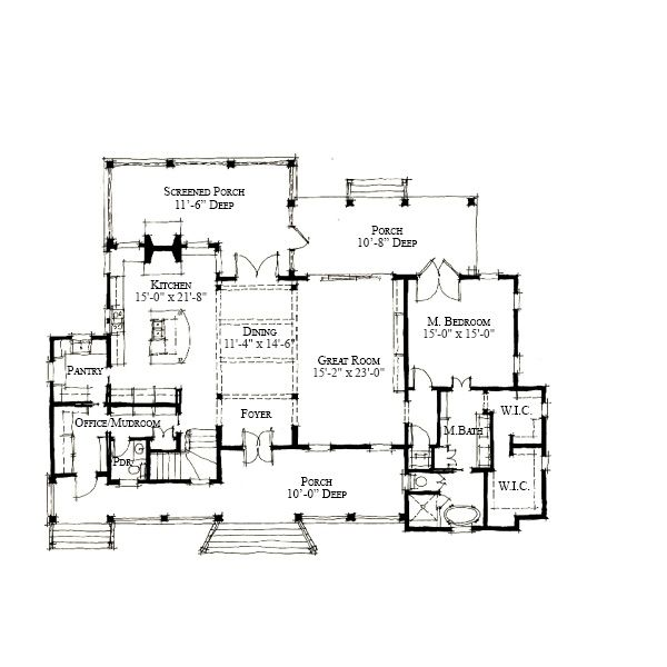 Allison ramsey architects floorplan for diane 39 s Allison ramsey house plans