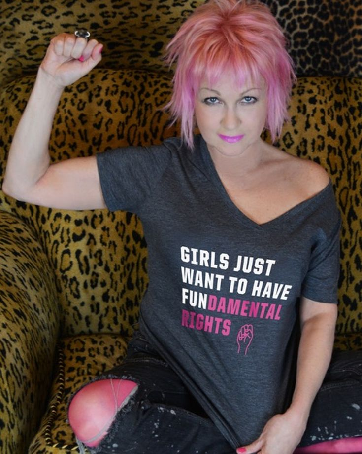 It's a simple request—girls just want to have fun...damental rights. Support True Colors Fund & Planned Parenthood when you get Cyndi Lauper's official t-shirt.