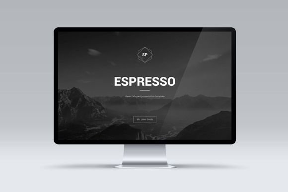 Espresso Minimal POWERPOINT Template by Shafura on @creativework247