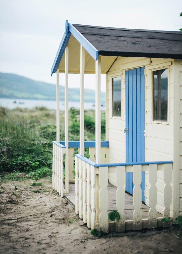 blue and white beach house