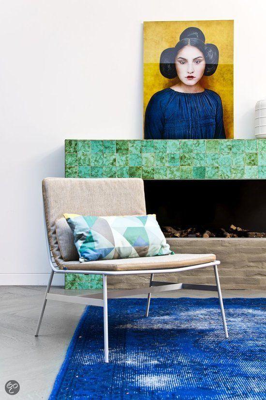 bol.com | Hkliving Metalen Lounge stoel - Grijs | Wonen