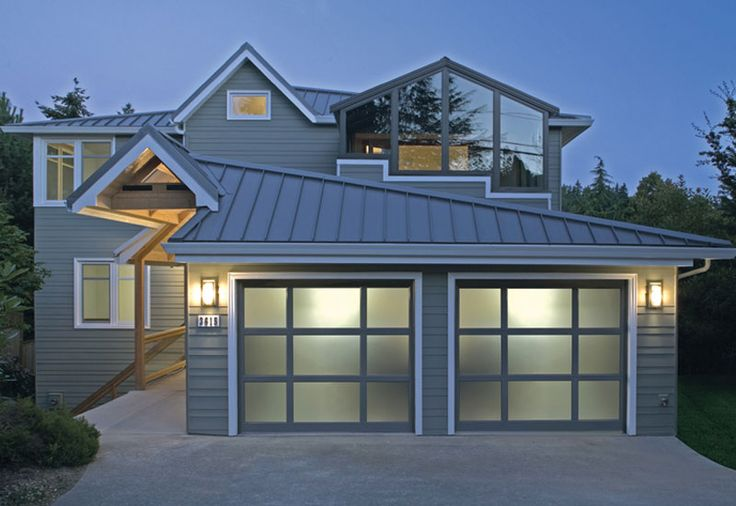Garage door styles contemporary garage doors for Garage roof styles