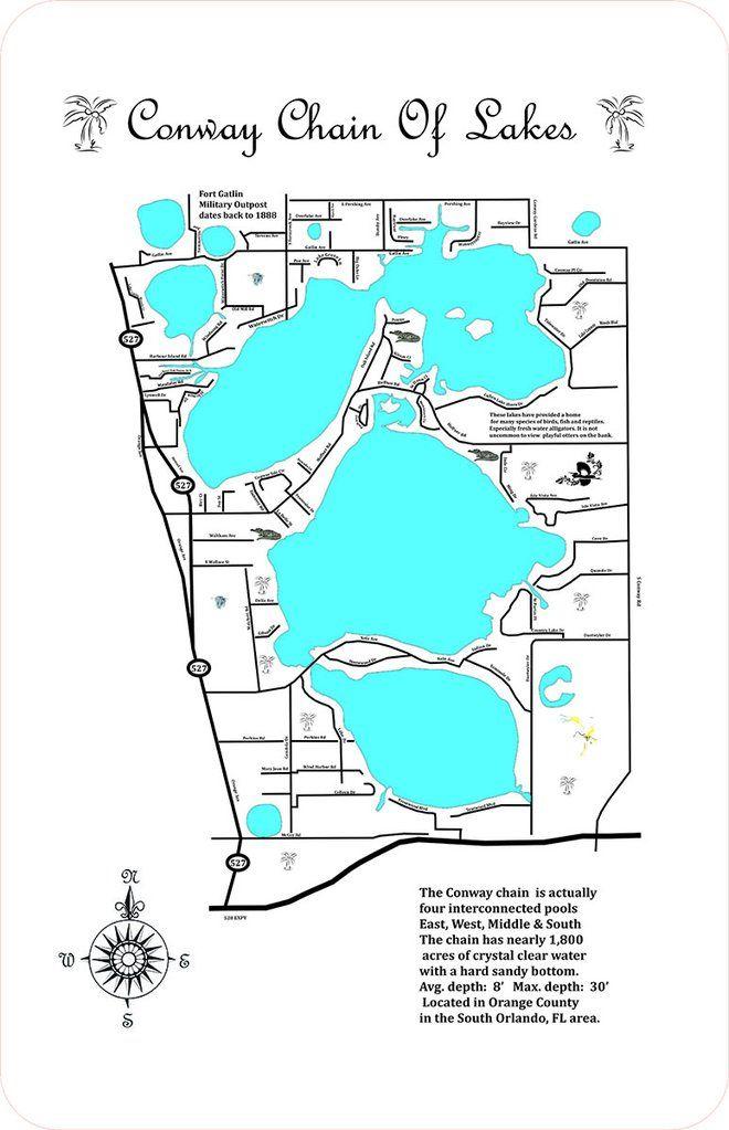 orange lake florida map Pin On Lake Conway Chain Of Lakes Florida orange lake florida map