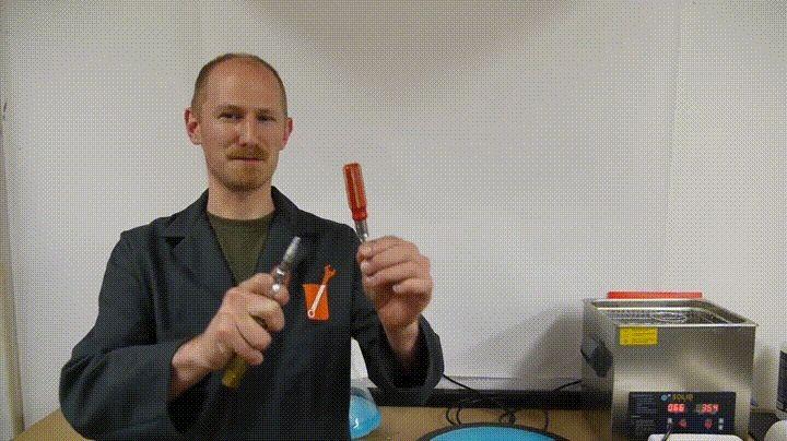 Levitating a screwdriver using compressed air