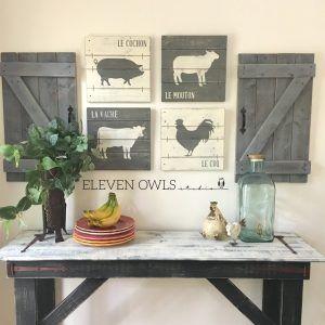 Rustic Farmhouse Kitchen Wall Decor