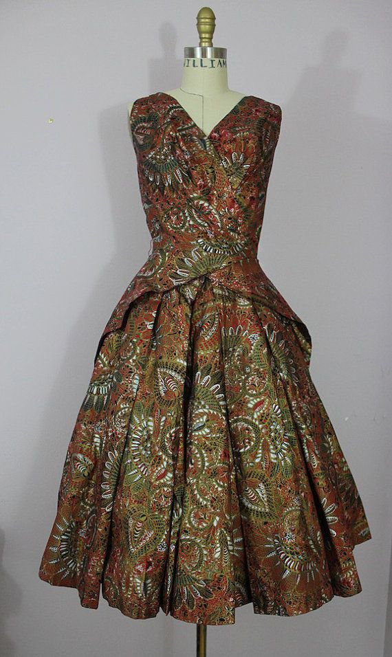 1950s Alfred Shaheen Dress / 50s Hawaiian by livinvintageshop, $345.00