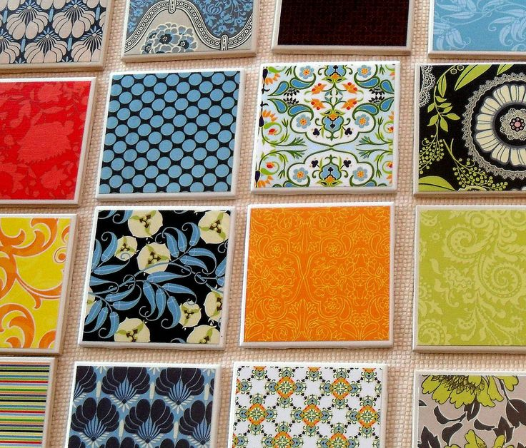 56 best Scrapbook Paper Wall Art and Coasters images on ...
