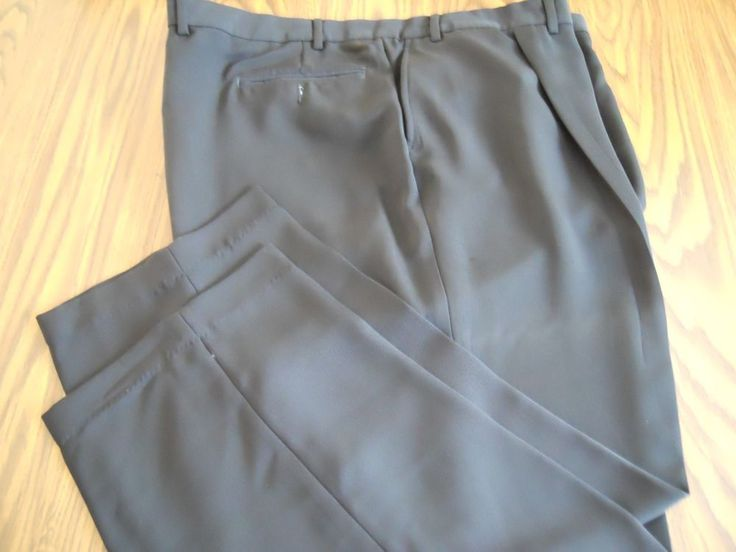 Murano Men's Dress Black Big & Tall Pants 46X30 New #Murano #DressPleat