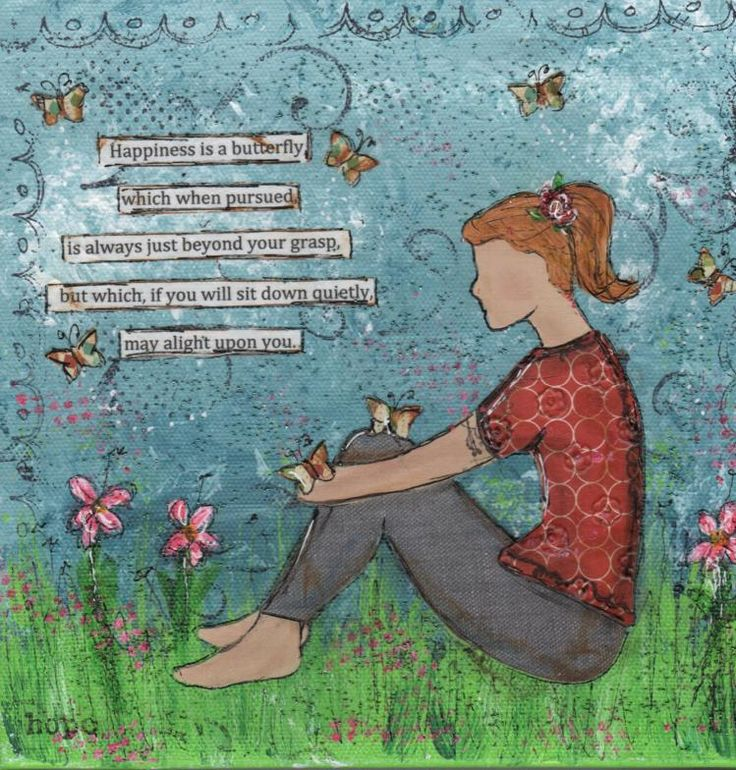 #Happiness us a butterfly... #Analogies #journalArt by Lisa Campbell