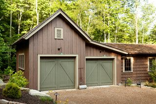 Mountain high style rustic garage and shed other metro by historical concepts exterior - Thick exterior paint concept ...