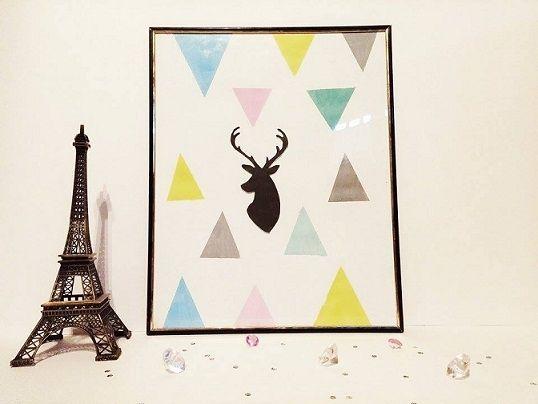 diy mon tableau d 39 inspiration scandinave id es pour peinture pinterest d co scandinave. Black Bedroom Furniture Sets. Home Design Ideas