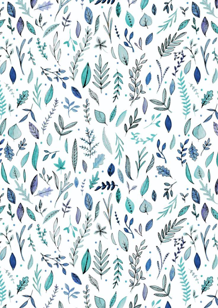 White Leaf Pattern|| Leah Trengove