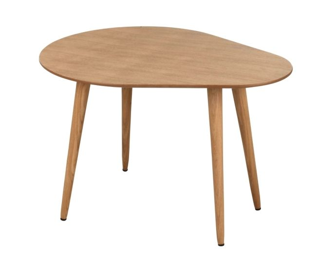Table Basse Scandinave L65 Cm Manon Arrondie Chene En 2020 Table