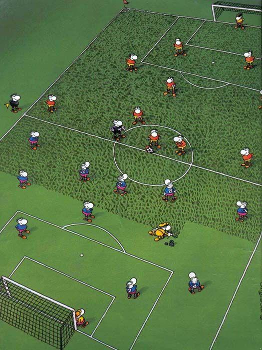 El humor de Mordillo y el fútbol