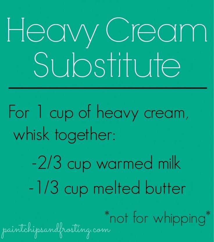 Heavy Cream Substitute - Good to know! My family is always needing heavy cream #foods