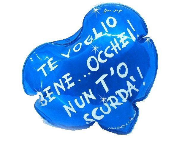 cuore blu frase napoletana