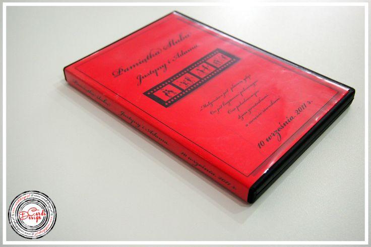 Okładka na płyty DVD - czerwony ślub / Red Wedding www.cardsdesign.pl