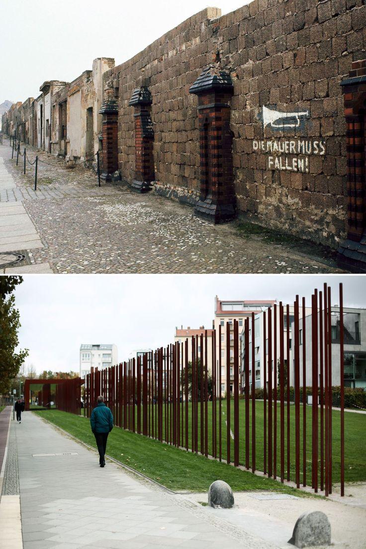 Orte der Berliner Mauer, damals und heute