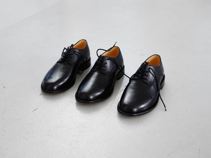 Jason Dodge    Shoes made for someone with three feet by a master shoemaker in Berlin.    An edition of 5 with 1 A.P. and 1 H.C.