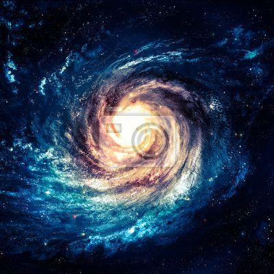 Unglaublich schöne spiralgalaxie irgendwo in den tiefen des weltraums auf Bildern von myloview. Von bester Qualität poster, bilder, fototapeten, sammlungen, sticker. Wollen Sie Ihr Zuhause schmücken? Nur mit myloview!