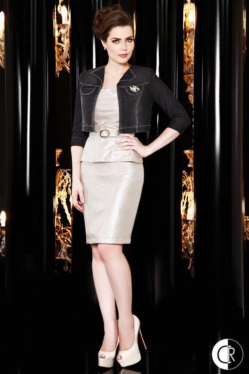 Jaqueta jeans + vestido resinado