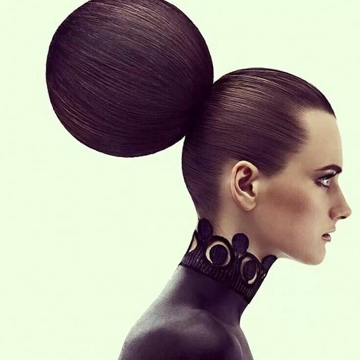 Ball-shaped hairbun updo