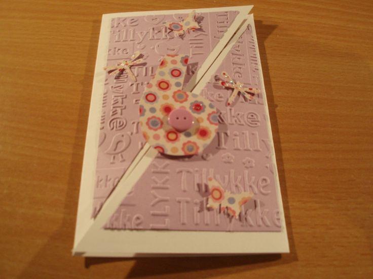 Pop-up kort til en pige, der bliver 6 år.
