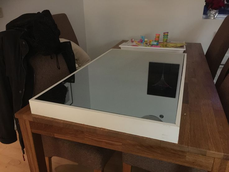 """Magic mirror"" - two way mirror in wooden frame. Displays mounted inside. Pine A64 board, used old Asus 22""displays."