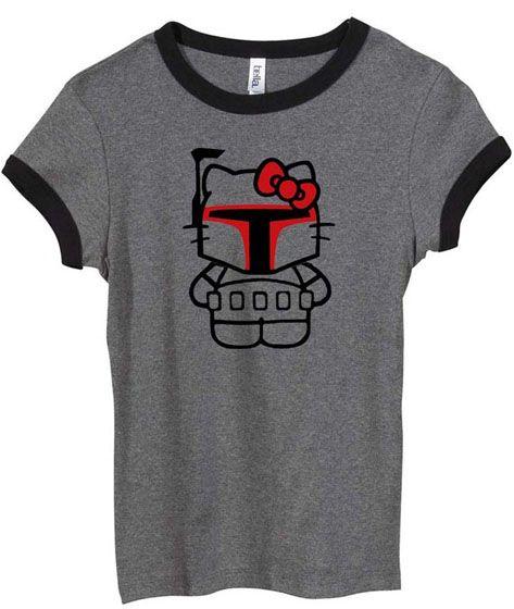 Hello Kitty/Boba Fett could it get any better?Darth Vader, Inner Geek, Boba Fett, Star Wars, Stars Wars, New Products, T Shirts, Hello Kitty, Darth Kitty