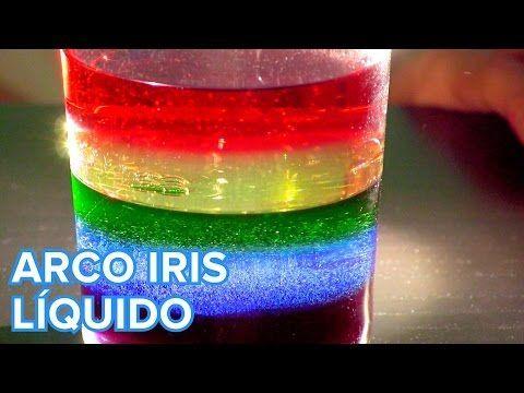 Crea tu propio arco iris líquido con este sencillo experimento casero. Pueden participar niños, y es ideal para niños de 6 a 9 años. Sigue el paso a paso y construye tu propio arcoíris.