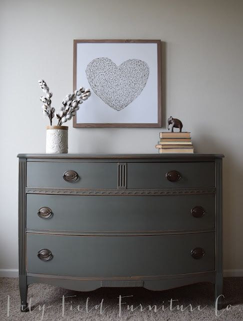 Sherwin Williams Cast Iron Dresser Color Matched by Country Chic Chalk Paint from Lily Field Furniture Co.