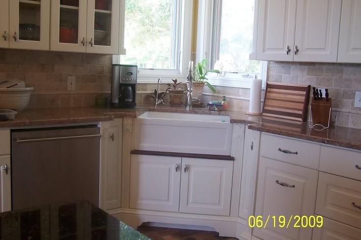 Corner Farmhouse Sink Kitchen : corner kitchen sinks corner sink window glass glass doors farmhouse ...
